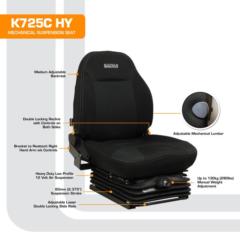 Air Suspension Seats For Forklifts : K c hyster forklift with right hand controls low profile