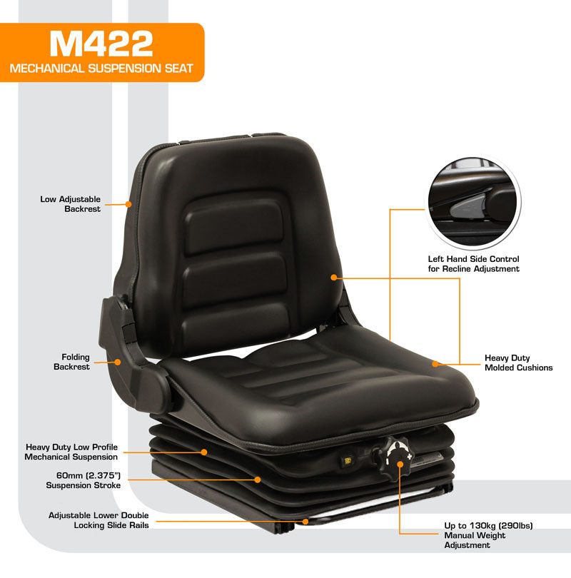 M422 Low Profile Mechanical Suspension Seat